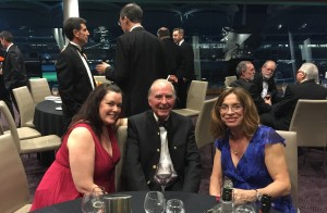 Mr Legoe, Heather Stokes and Kristie Molloy at the SA Bar Dinner on 6 November 2015